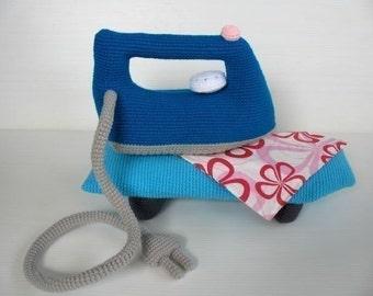 Crochet Pattern - IRONING SET- Toys - PDF  (00453)