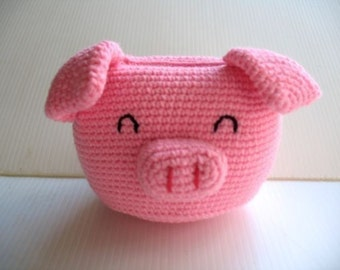 Crochet Pattern - Cell Phone Holder - PIGGY  (00431)