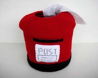 Crochet Pattern - POST BOX - Tissue Roll Holder - PDF  (00368)