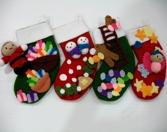 Crochet Pattern-CHRISTMAS SOCKS- Toys/Deco-PDF (00469)