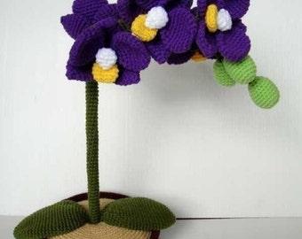 Crochet Pattern - ORCHID - Flower / Plant - PDF (00414)