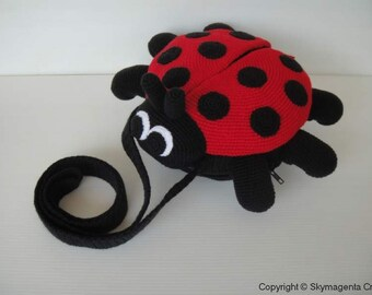 Crochet Pattern - LADYBUG Sling Bag - PDF  (00454)
