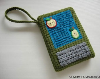 Crochet Pattern - Moss Green Kindle Cover / Sleeve / Purse  (00363)