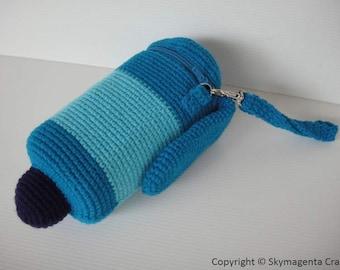 Crochet Pattern - MARKER PEN -  Pencil Case / Purse in pdf  (00406)