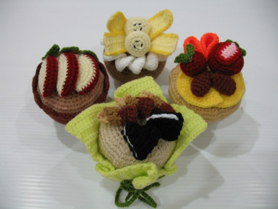 Crochet Pattern - Delicious MUFFIN - Play Food/Toys -PDF  (00445)