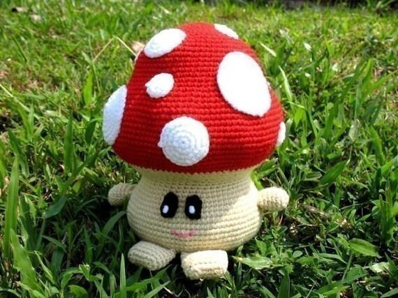 Crochet Pattern - MUSHROOM- Toys - PDF  (00381)