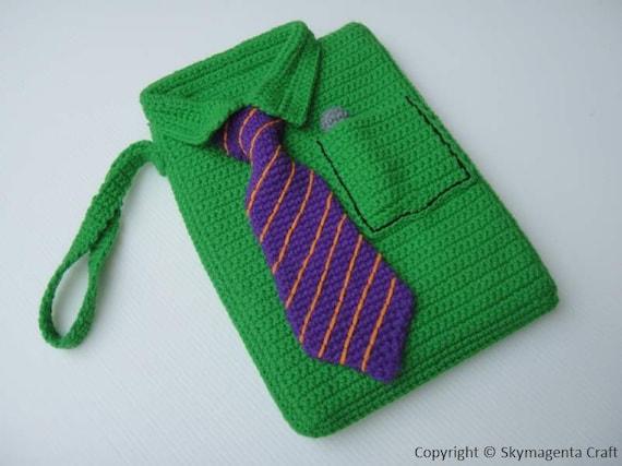 Crochet Pattern - SHIRT Kindle Cover / Sleeve / Purse  (00413)
