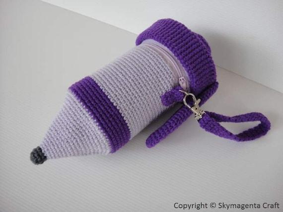 Crochet Pattern - MECHANICAL PENCIL -  Pencil Case / Purse in pdf  (00440)