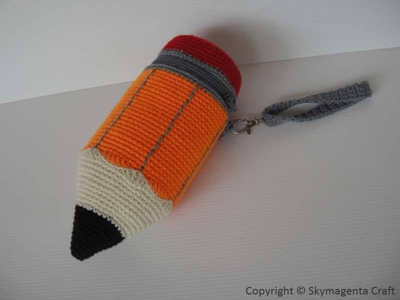 Crochet Pattern PENCIL Pencil Case / Purse in pdf