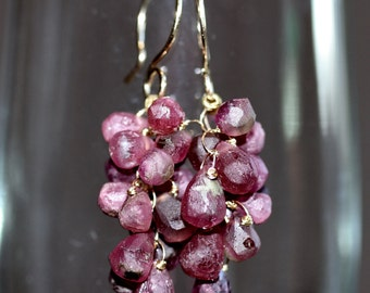Gemstone Tourmaline Earrings Rosehips