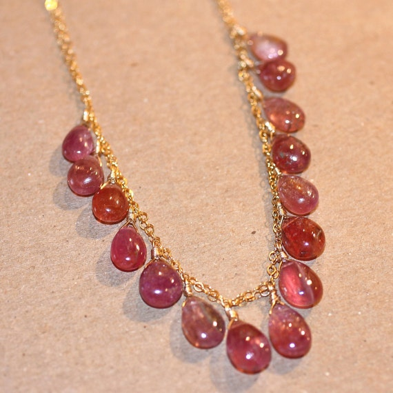 Arrosa Tourmaline Gemstone Necklace