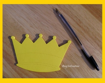 Handcrafted Crown Shaped Notepad Canary