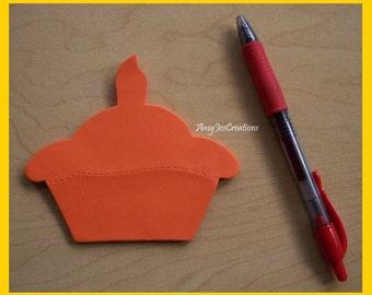 Handcrafted Cupcake Shaped Notepad Orange