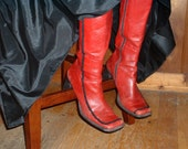 Spanish Flair Upcycled Diba Boots, Size 9.5