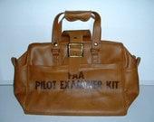 70s FAA Pilot Examiner Kit - Vintage Vinyl Tote