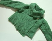 Standun Irish Wool Cable Knit Cropped Sweater Shrug - Size Small
