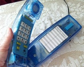 Anatomy Push Button Telephone Clear Blue See Through Phone Candies Advertising Translucent Light