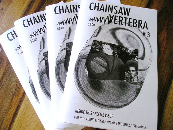 Art Zine Chainsaw Vertebra Issue 3 Outsider Punk Surreal Book ANDRESS