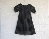 Sweet Black with White Polka-Dot Girl's Dress