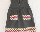 Girl's Hello Kitty V - Neck Dress With Pockets