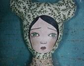 No.5 Green Leaves Bear Cloth Art Doll by Evelyn's Wonderland