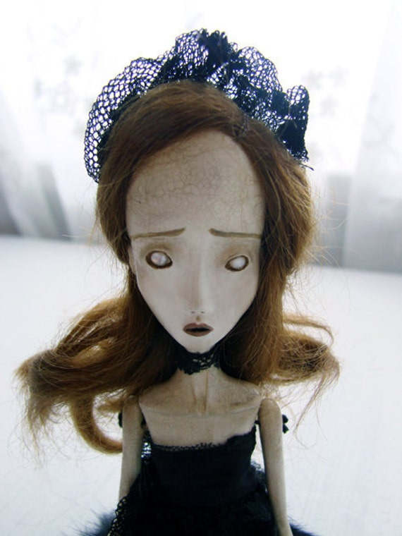 Nola - Gothic Victorian Ghost Ballerina Art Doll by Evelyn's Wonderland