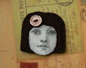 Sandrine - Little french girl brooch