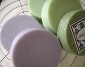 LAVENDER  Shea Butter Shave Puck Round Soap