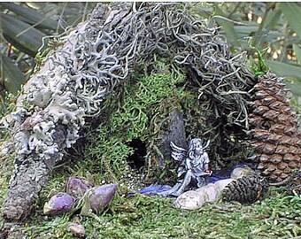 Fairy House Kit - w Pewter Fairy
