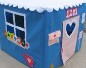 Bluebird Cottage, Card Table Playhouse, Custom Order, Personalized