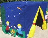 Starry Night Camp Site Card Table Playhouse, Personalized, Custom Order