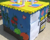 Garden to Table Card Table Playhouse, Personalized, Custom Order