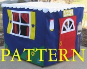 Standard Card Table Playhouse PATTERN, Instant Download ebook only, Sew Your Own Card Table Playhouse