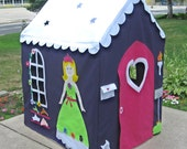 Large Kids Playhouse, Play Tent, Play Teepee, Fits Large PVC Frame Frame You Build, Custom Order, Other Styles Also Available
