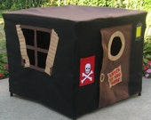 "Immediate Shipping Pirate's Hideout Card Table Playhouse, Fits Your 34"" Folding (Card) Table"