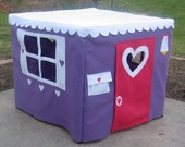 Card Table Playhouse, Tablecloth Playhouse Light Purple/Lavender Color, Custom Order
