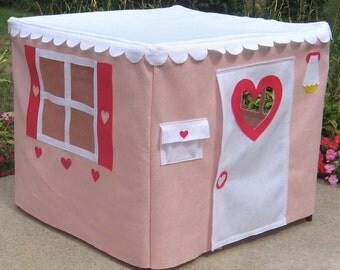 Kids Card Table Playhouse, Toddler Gift, Kids Teepee, Play Tent, Kids Tent, Felt Playhouse, Indoor Playhouse, Teepee, Custom Order