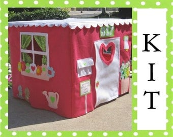 SALE, Card Table Playhouse Sewing KIT, Save 20 Dollars, Sew Playhouse Seen on the Today Show, Choose Your Colors