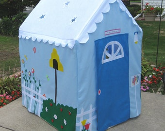 Kids Playhouse, Indoor Playhouse, Play Tent, Kids Teepee, Custom Order, Fits PVC Frame You Easily Build, Personalized