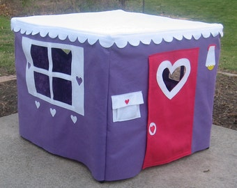 Card Table Playhouse, Tablecloth Playhouse Medium Purple Color, Custom Order