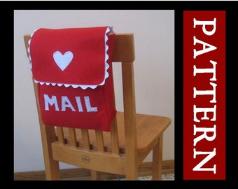 Mailbox Chair Backer Pattern, Valentine Mailbox, INSTANT Download, Digital File ebook, Sew it Yourself, Includes Full Alphabet Set