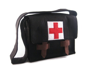 Modern Medical Bag for the Trendy Tot, Custom Order, Messenger Bag, Doctor Kit, Custom Order