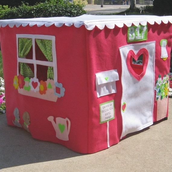 Immediate Shipping, Double Delight Card Table Playhouse, Fits 34 Inch Table