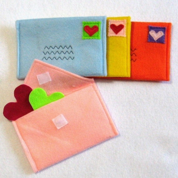 Envelopes for Pretend Play, Choose Your Colors, Custom Order