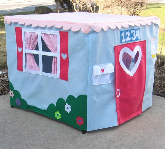 The Perfect Card Table Playhouse, Light Blue, Custom Order