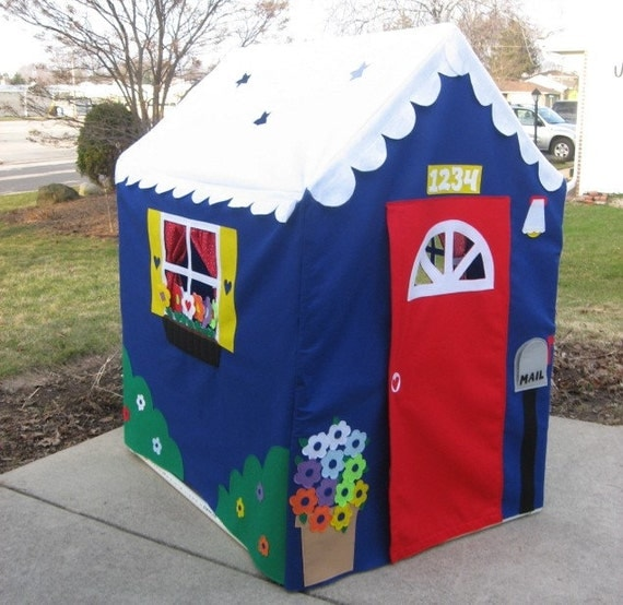 Large Fabric Playhouse, Indoor Playhouse, Play Tent, Play Teepee, Fits PVC Frame Frame You Build, Custom Order, Other Styles Also Available