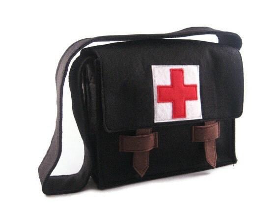 Modern Medical Bag for the Trendy Tot, Custom Order, Messenger Bag, Doctor Kit, Custom Order
