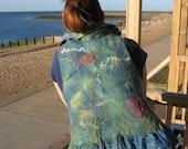 Felted  Art Vest -  Aquarius Art  REVERSIBLE  (mixed merino wool and mulberry silk)