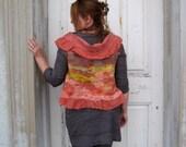 Nuno Felted Silk Bolero Vest  Reversible M or L size