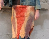 Nuno felted  Wrap Skirt  - Reversible
